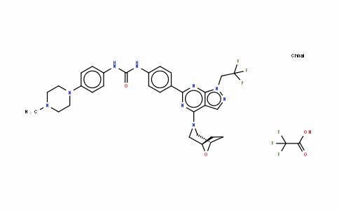 Urea, N-[4-(4-Methyl-1-piperazinyl)phenyl]-N'-[4-[4-(8-oxa-3-azabicyclo[3.2.1]oct-3-yl)-1-(2,2,2-trifluoroethyl)-1H-pyrazolo[3,4-d]pyriMidin-6-yl]phenyl]-, CF3COOH salt