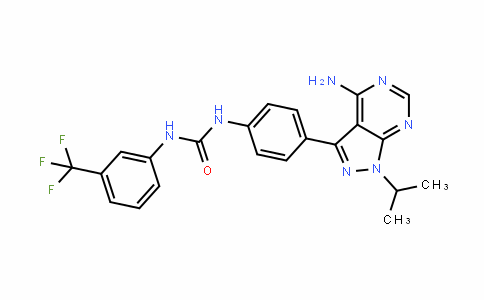 Urea, N-[4-[4-aMino-1-(1-Methylethyl)-1H-pyrazolo[3,4-d]pyriMidin-3-yl]phenyl]-N'-[3-(trifluoroMethyl)phenyl]-
