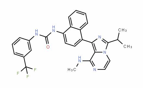 Urea, N-[4-[8-(MethylaMino)-3-(1-Methylethyl)iMidazo[1,5-a]pyrazin-1-yl]-1-naphthalenyl]-N'-[3-(trifluoroMethyl)phenyl]-