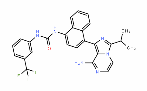 Urea, N-[4-[8-aMino-3-(1-Methylethyl)iMidazo[1,5-a]pyrazin-1-yl]-1-naphthalenyl]-N'-[3-(trifluoroMethyl)phenyl]-