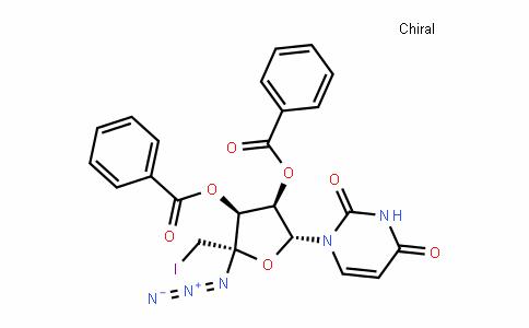 Uridine, 4'-C-azido-5'-deoxy-5'-iodo-, 2',3'-dibenzoate