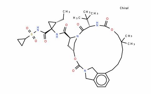 (1R,2R)-N-[[[6-(2-羧基-2,3-二氢-1H-异吲哚-4-基)-2,2-二甲基己基]氧]羰基]-3-甲基-L-缬氨酰-(4R)-4-羟基-L-脯氨酰-1-氨基-N-(环丙基磺酰基)-2-乙基环丙甲酰胺 (1-2)-内酯