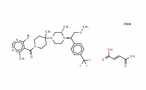 1-[(4,6-二甲基-5-嘧啶基)羰基]-4-[(3S)-4-[(1R)-2-甲氧基-1-[4-(三氟甲基)苯基]乙基]-3-甲基-1-哌嗪基]-4-甲基哌啶马来酸盐