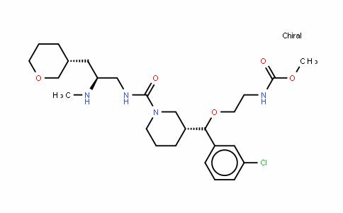 N-[2-[(R)-(3-氯苯基)[(3R)-1-[[[(2S)-2-(甲基氨基)-3-[(3R)-四氢-2H-吡喃-3-基]丙基]氨基]羰基]-3-哌啶基]甲氧基]乙基]氨基甲酸甲酯