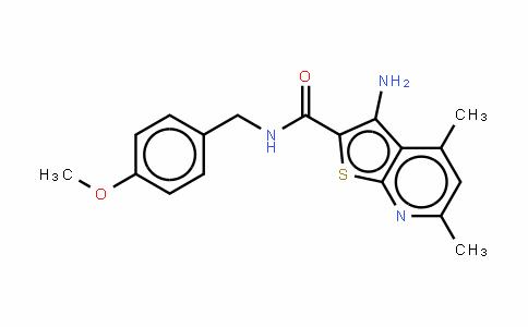 3-氨基-N-[(4-甲氧基苯基)甲基]-4,6-二甲基噻吩并[2,3-B]吡啶-2-甲酰胺