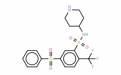 5-(苯磺酰基)-N-(哌啶-4-基)-2-(三氟甲基)苯磺酰胺