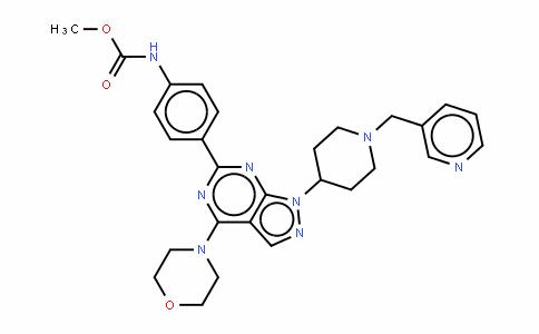 N-[4-[4-(4-吗啉基)-1-[1-(3-吡啶甲基)-4-哌啶基]-1H-吡唑并[3,4-D]嘧啶-6-基]苯基]氨基甲酸甲酯