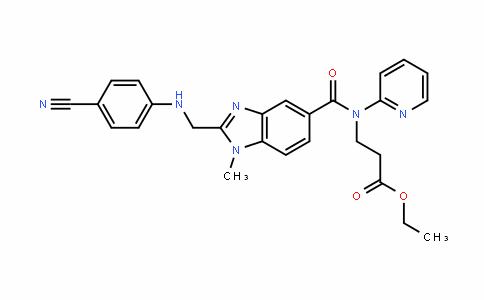β-Alanine, N-[[2-[[(4-cyanophenyl)amino]methyl]-1-methyl-1H-benzimidazol-5-yl]carbonyl]-N-2-pyridinyl-, ethyl ester