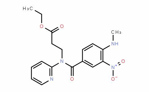 3-(4-(甲基氨基)-3-硝基-N-(吡啶-2-基)苯甲酰氨基)丙酸乙酯