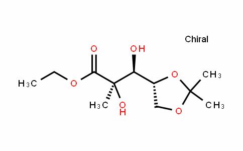 (2R,3S)-ethyl 3-((R)-2,2-dimethyl-1,3-dioxolan-4-yl)-2,3-dihydroxy-2-methylpropanoate