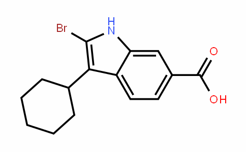 2-Bromo-3-cyclohexyl-1H-indole-6-carboxylic acid