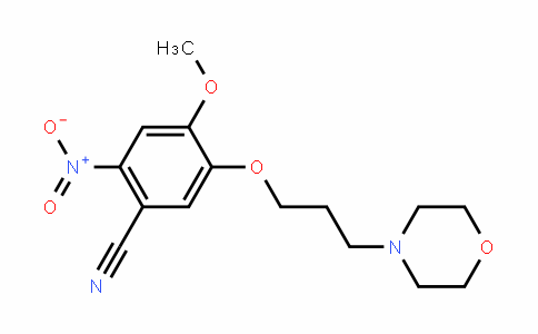 2-Nitro-4-Methoxy-5-(3-Morpholinopropoxy)benzonitrile