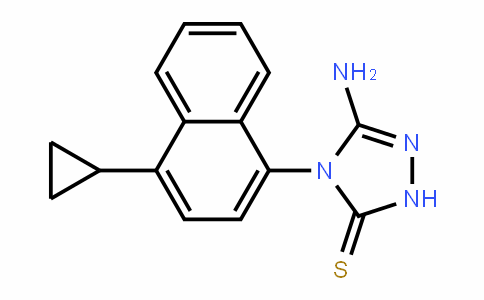5-氨基-4-(4-环丙基-1-萘)-2,4-二氢-3H-1,2,4-噻唑-3-硫醇