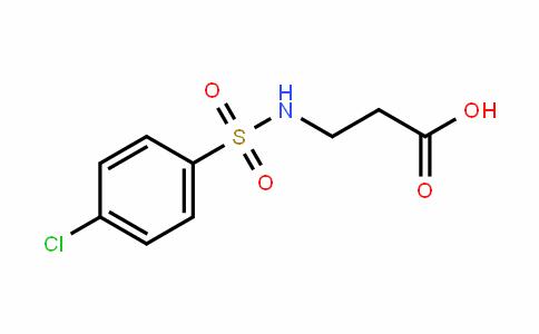 3-[[(4-CHLOROPHENYL)SULFONYL]AMINO]PROPANOIC ACID